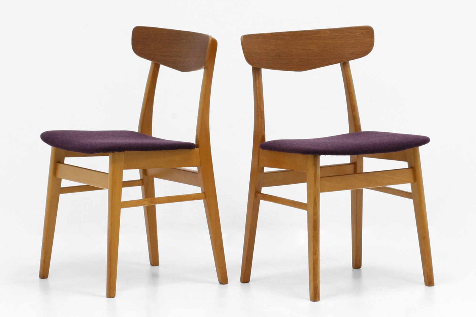 北欧,ヴィンテージ,家具,ダイニングチェア,2脚,セット,紫