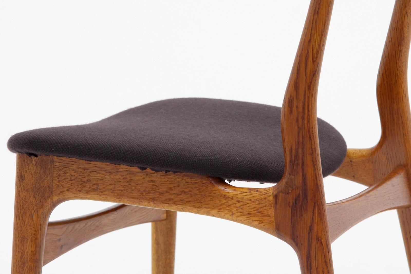 ヴィンテージ,北欧家具,ダイニングチェア,2脚,セット,こげ茶