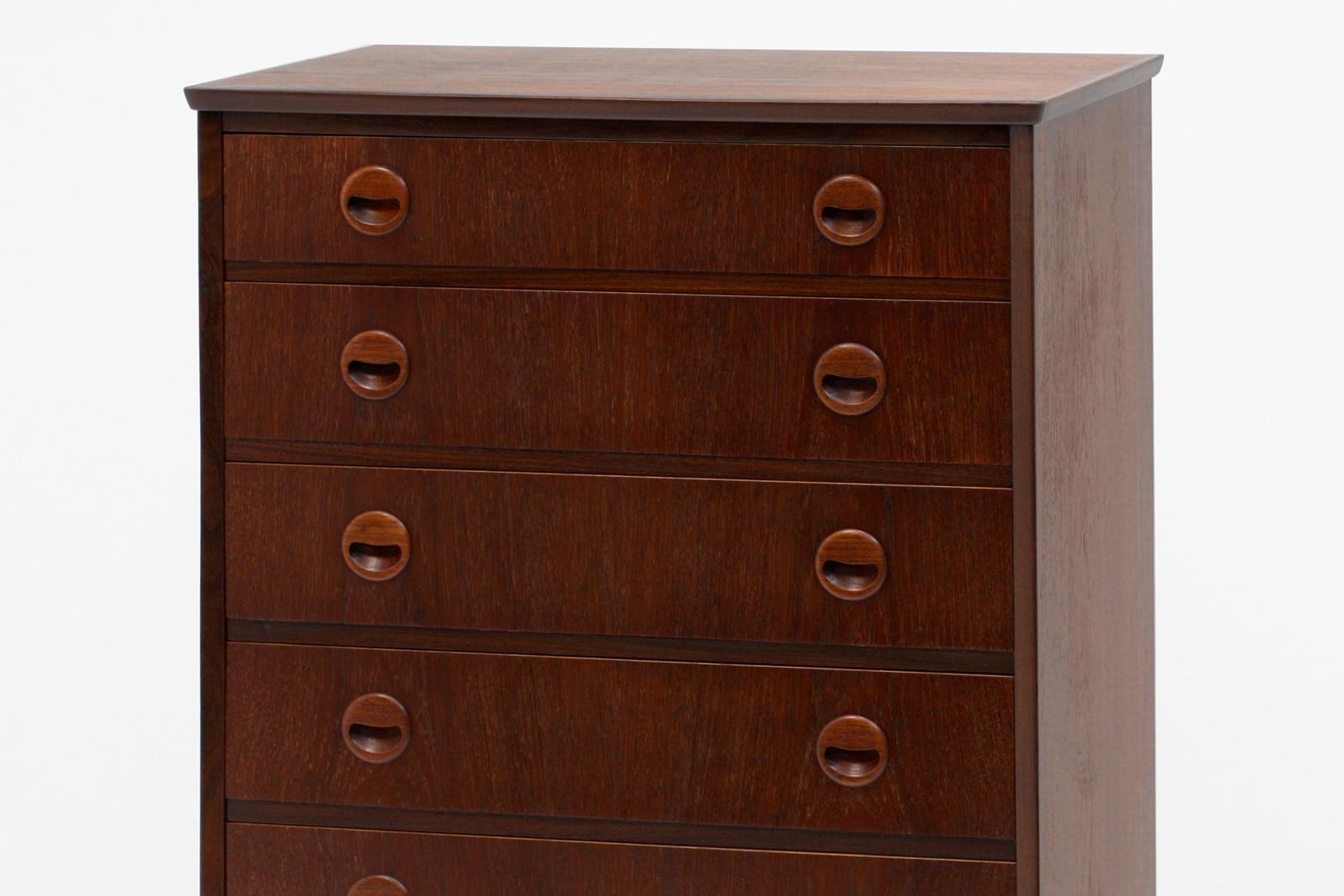 北欧,ビンテージ家具,6段,チェスト,幅72.5cm