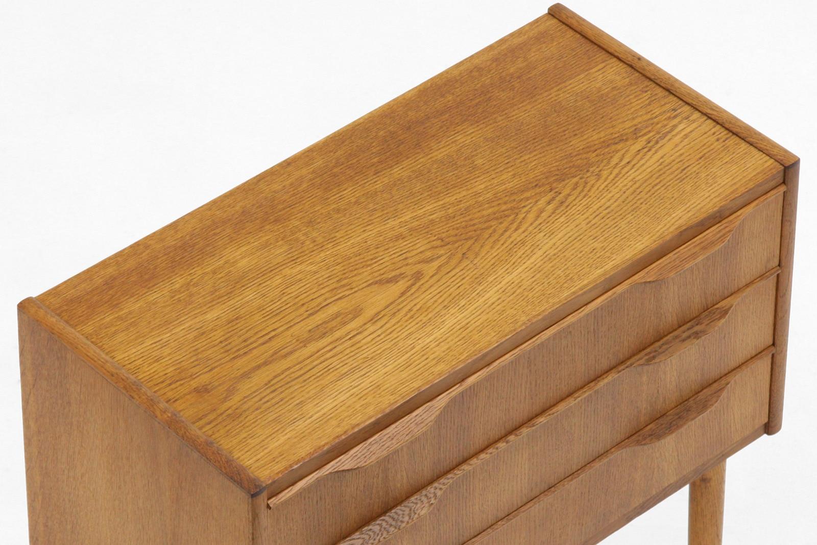 北欧,収納家具,3段,チェスト,オーク材