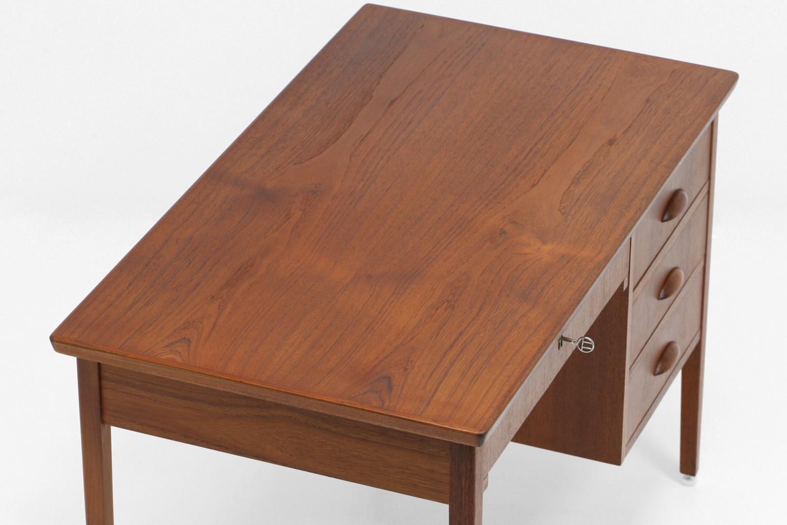 ヴィンテージ,北欧,家具,小さい,片袖デスク,チーク材