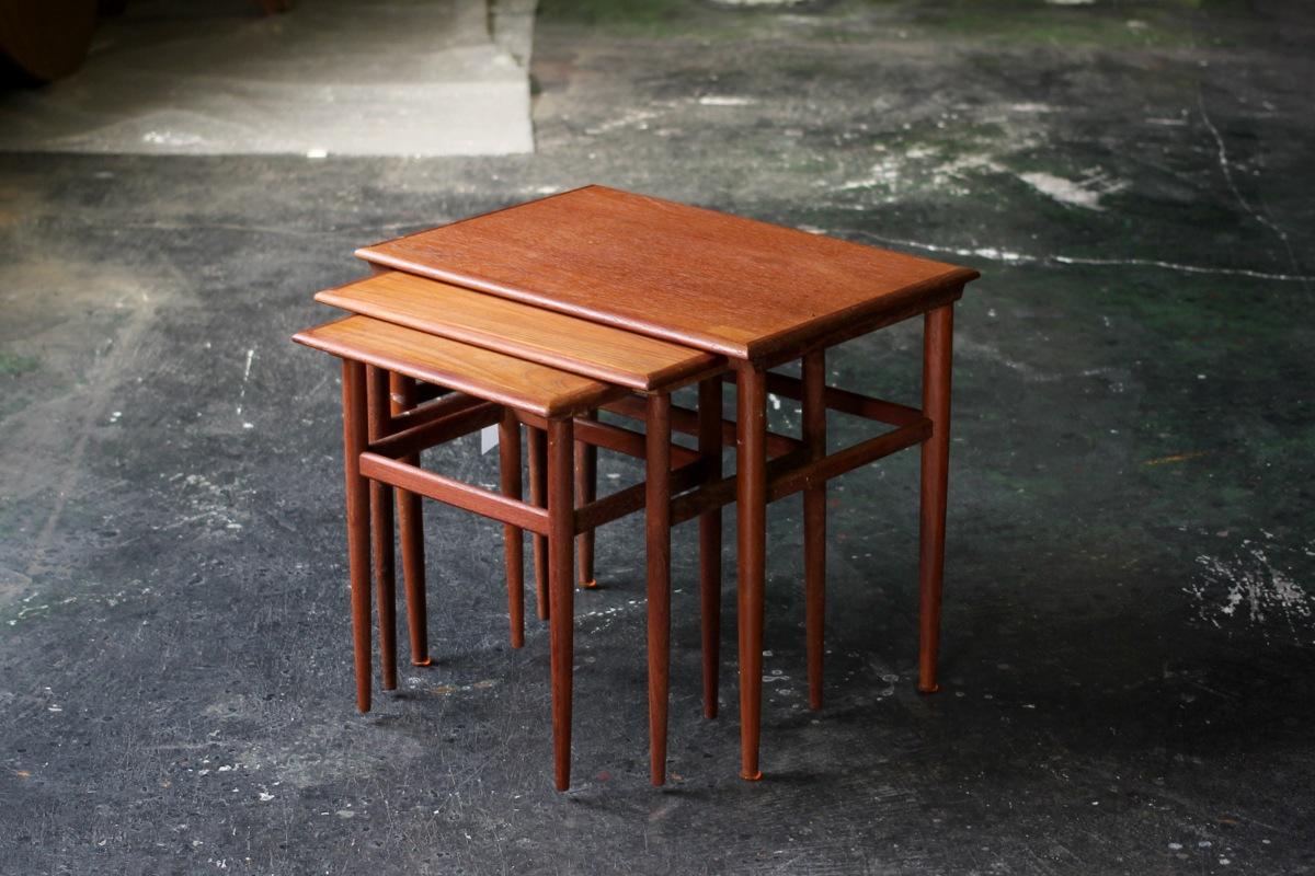 ヴィンテージ,北欧,家具,ネストテーブル,デンマーク