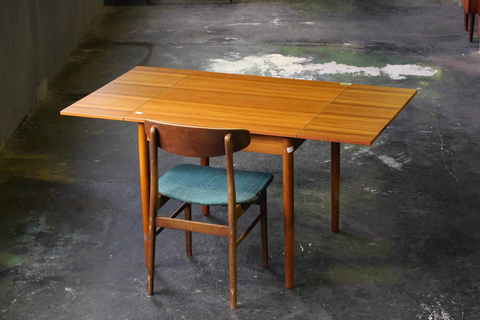 北欧,ヴィンテージ,家具,ダイニングテーブル,エクステンション,正方形,80cm