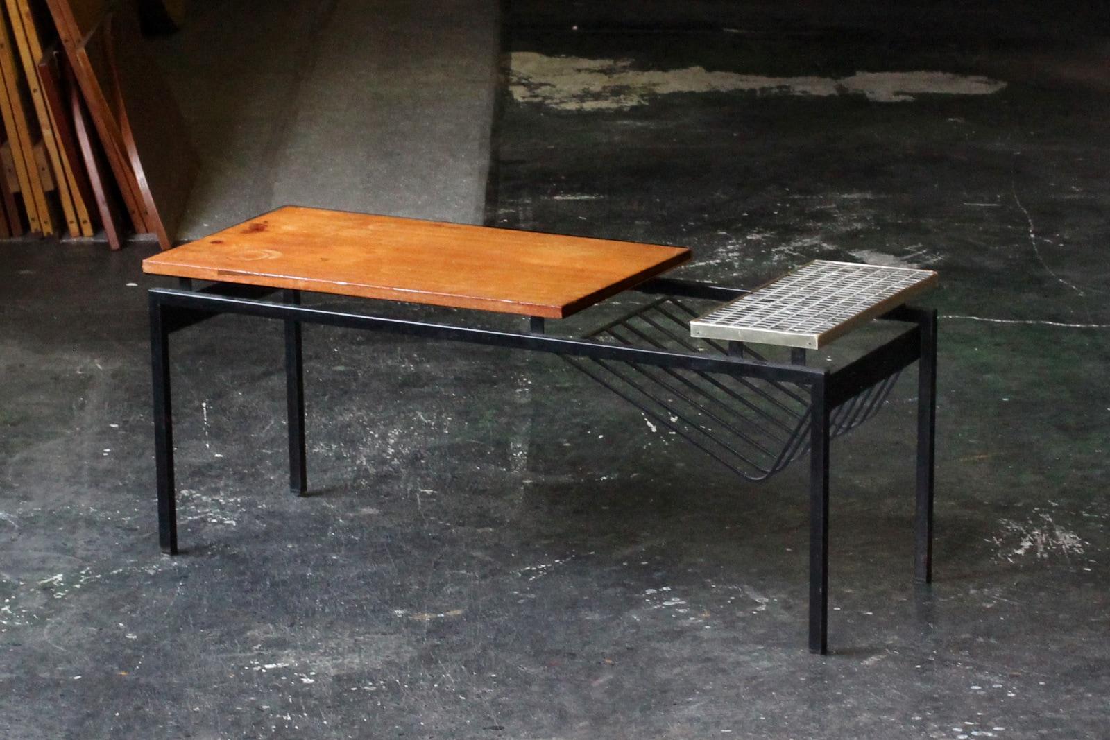 オランダ,ミッドセンチュリー家具,タイルトップ,コーヒーテーブル