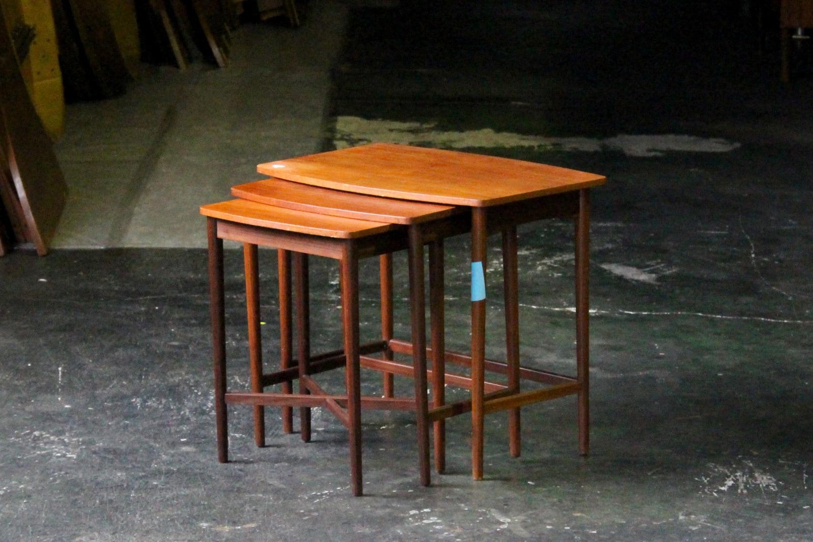 北欧,ヴィンテージ,家具,ネストテーブル,デンマーク製