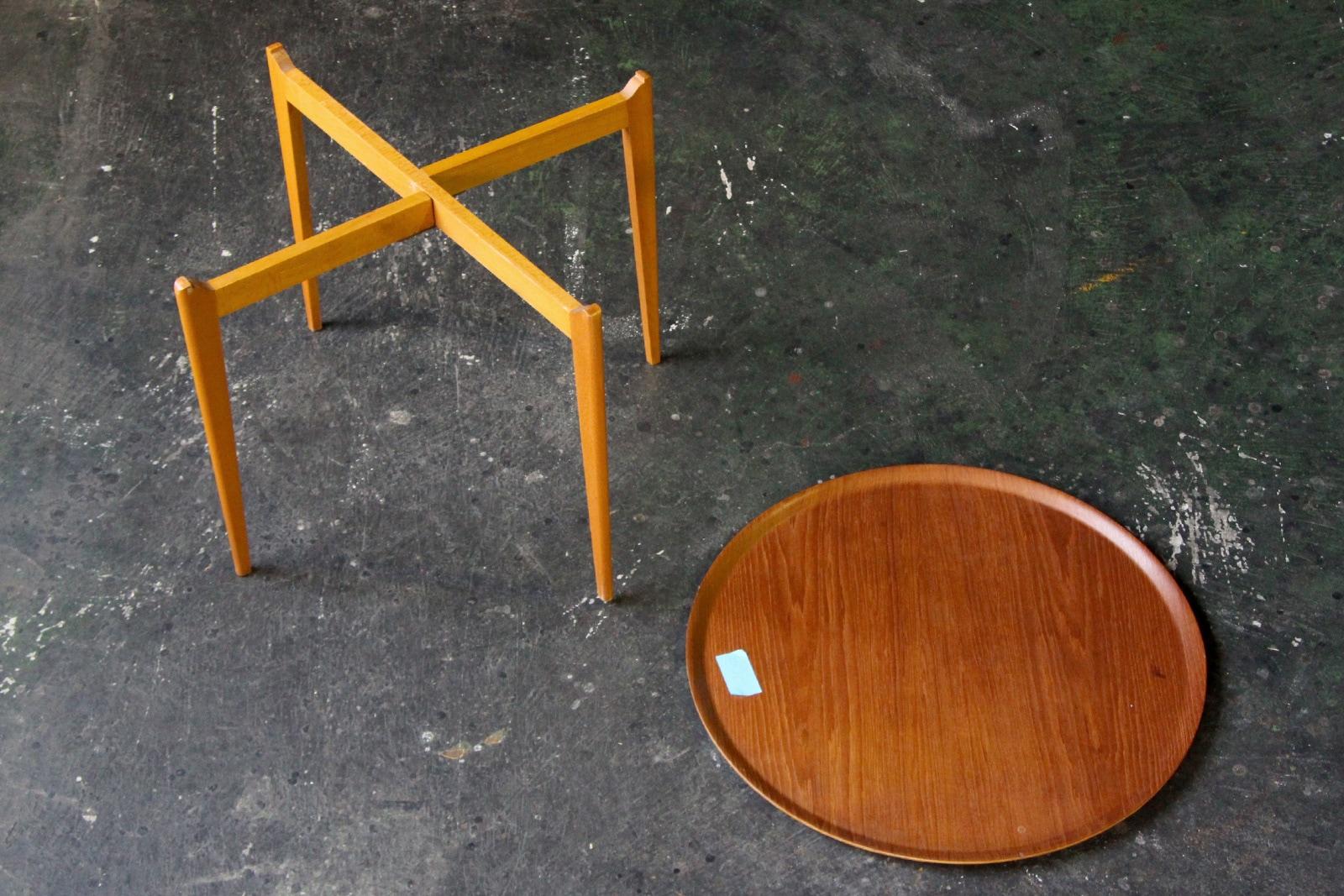 北欧,ヴィンテージ,家具,コーヒーテーブル,プライウッド天板,丸型