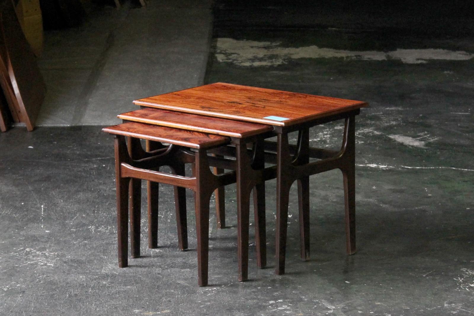 北欧,デンマーク,家具,ネストテーブル,ローズウッド材