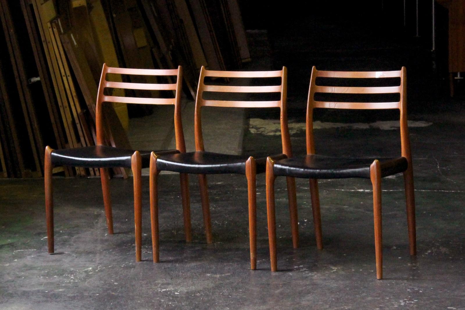 北欧,デンマーク,名作椅子,JLMoller ,JLモラー,NO78,本革
