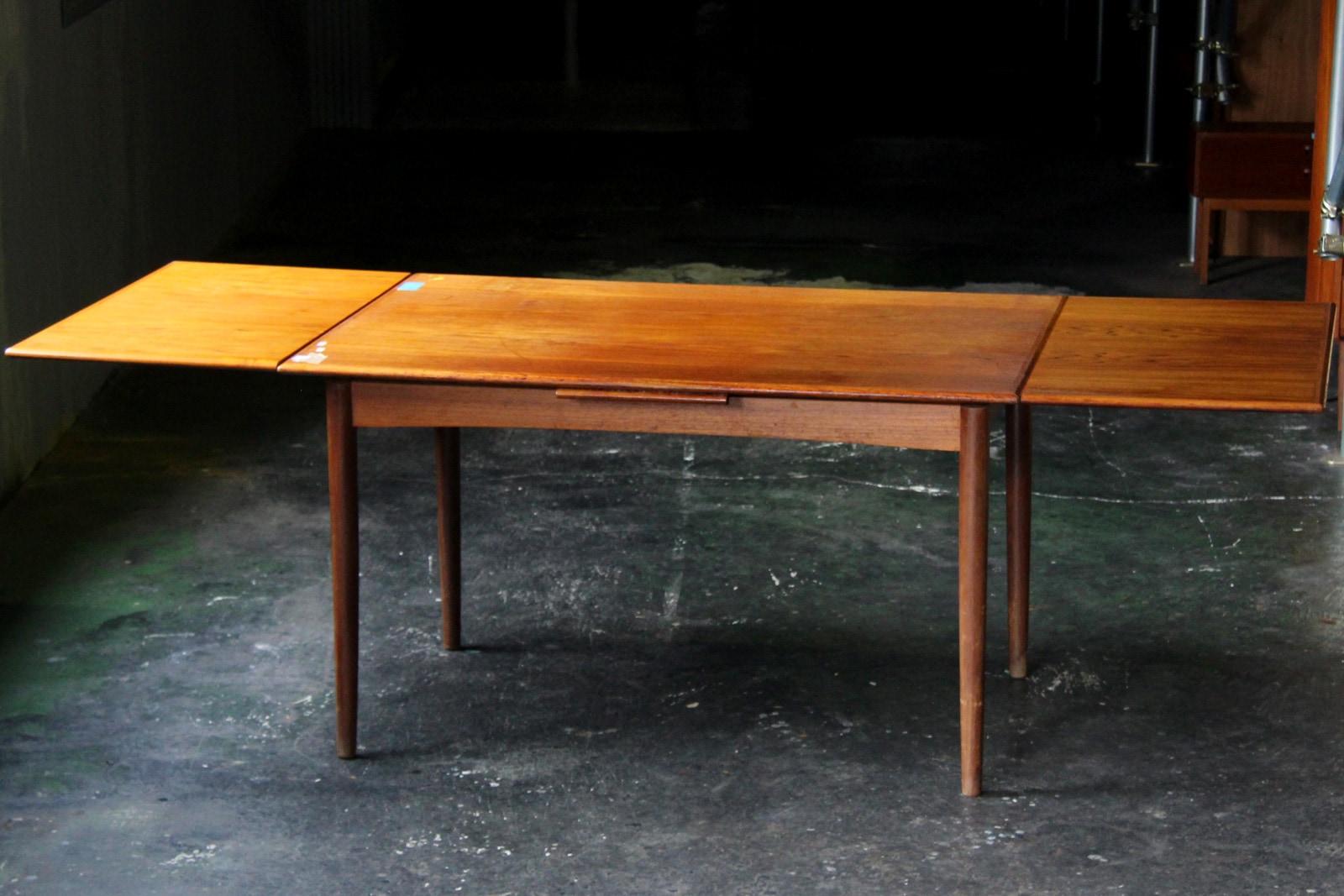 北欧,ヴィンテージ,家具,ダイニングテーブル,チーク材,長方形