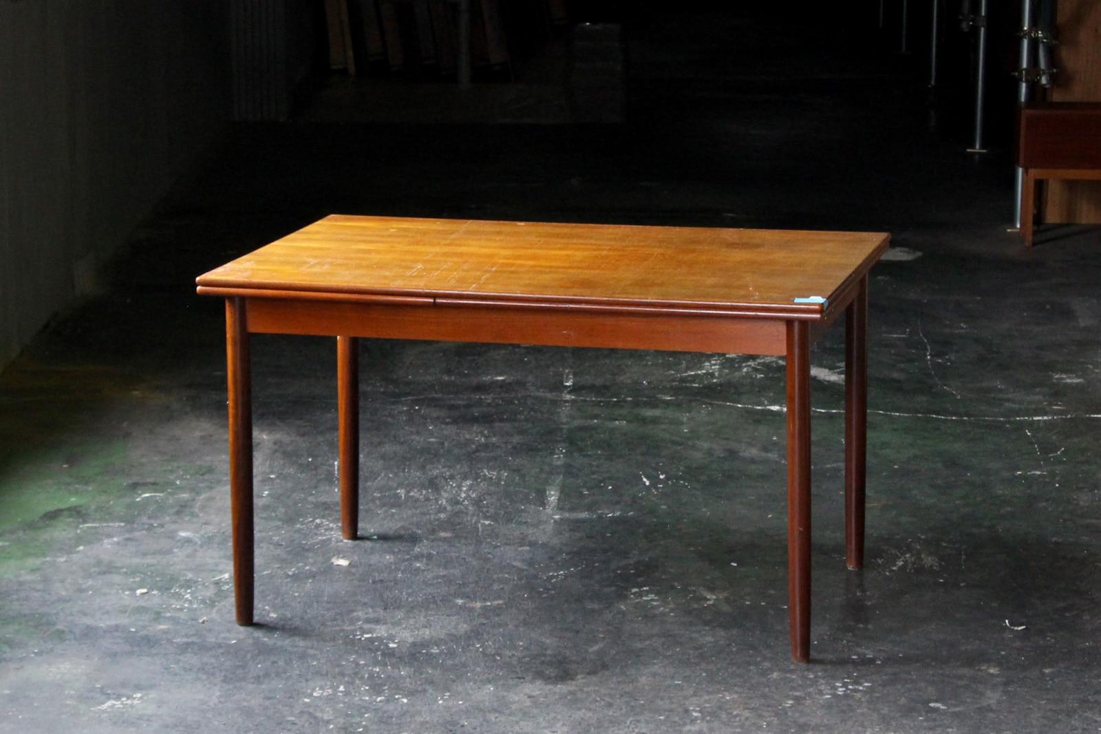 北欧,ヴィンテージ,家具,ダイニングテーブル,小さめ,拡張式