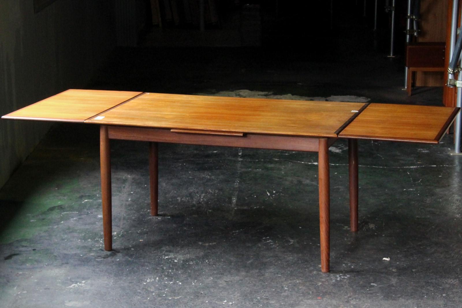 北欧,ヴィンテージ,ダイニングテーブル,大きい,エクステンション,140cm