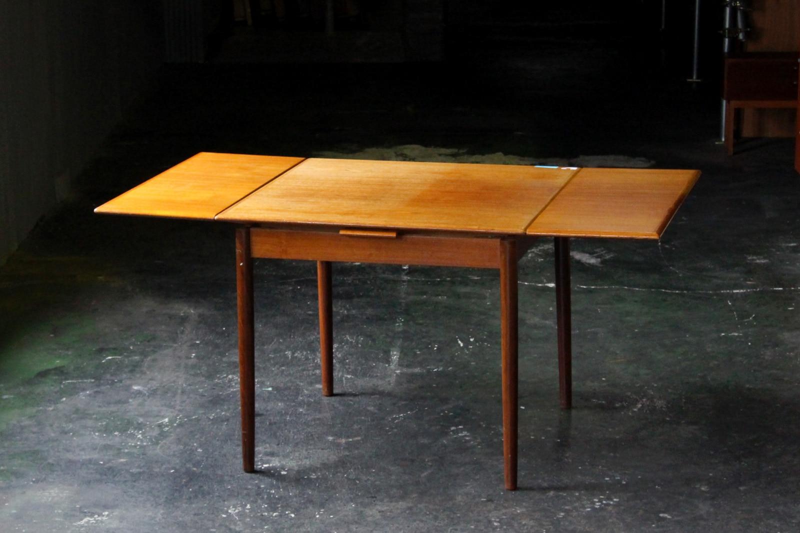 北欧,ミッドセンチュリー,家具,ダイニングテーブル,エクステンション,正方形,87cm
