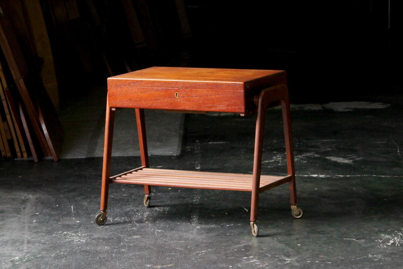 北欧,デンマーク,家具,PovlDinesen,ソーイング,テーブル
