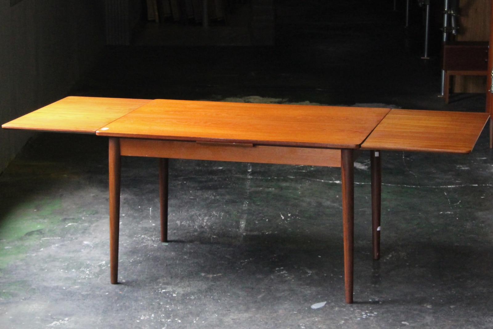 北欧,ヴィンテージ,家具,ダイニングテーブル,小さい,伸張式