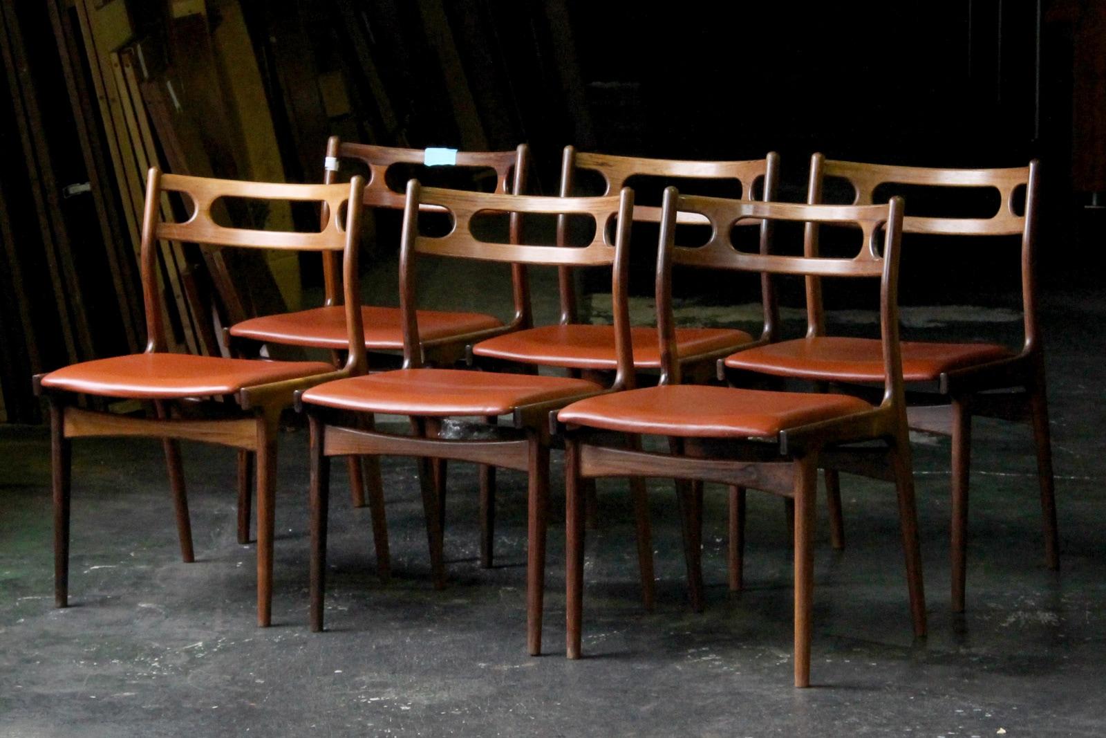 北欧,ヴィンテージ,家具,ヨハネスアンダーセン,ダイニングチェア,椅子,本革