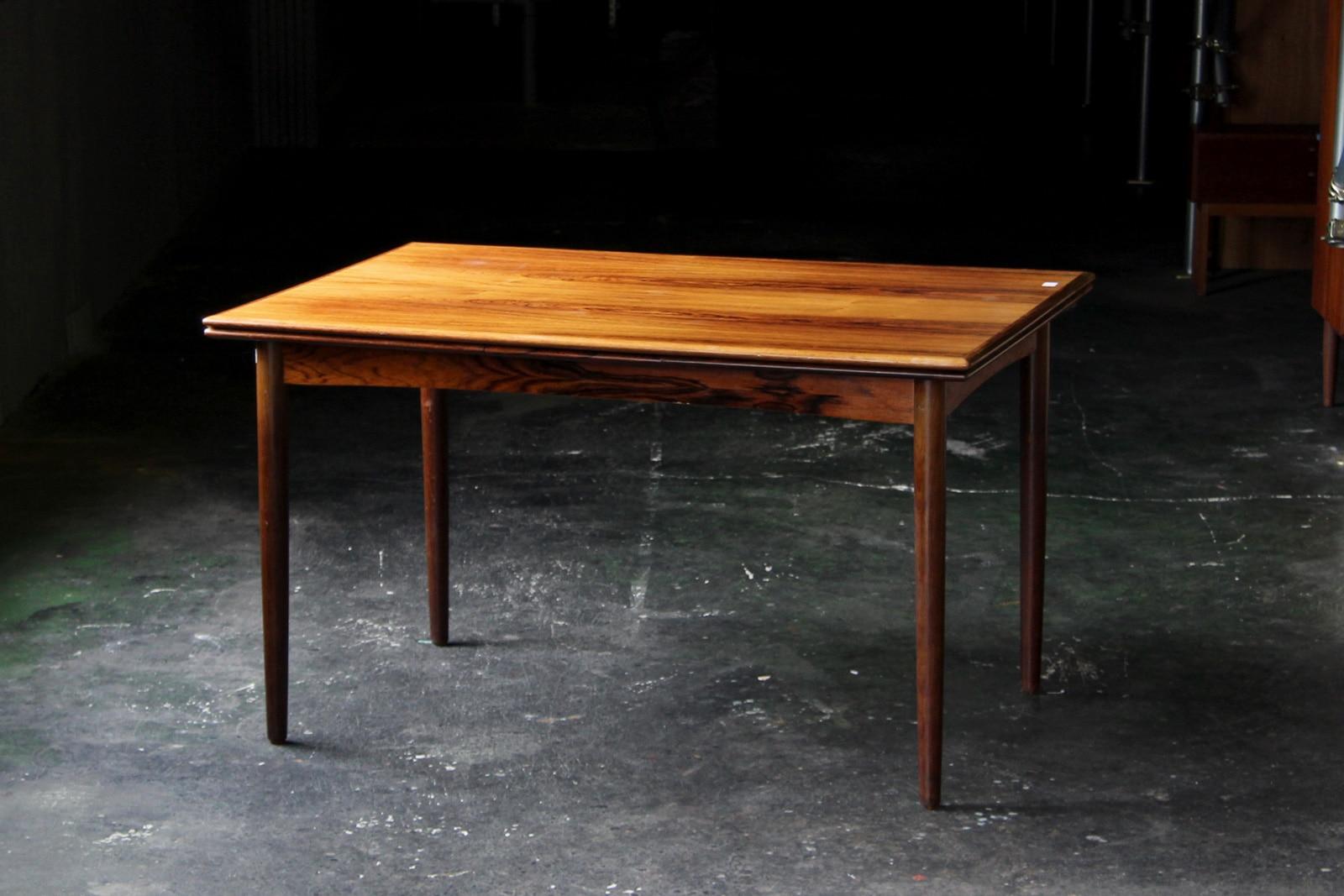 北欧,アンティーク,家具,ダイニングテーブル,ローズウッド材,130cm