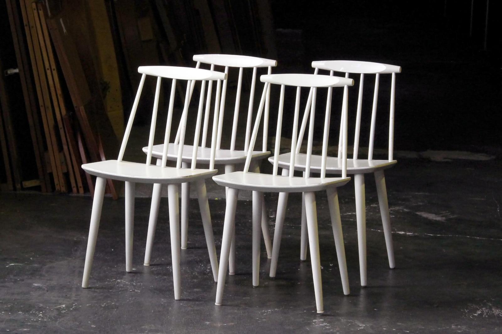 北欧,ヴィンテージ家具,FDBモブラー,HAY,J77,椅子,白
