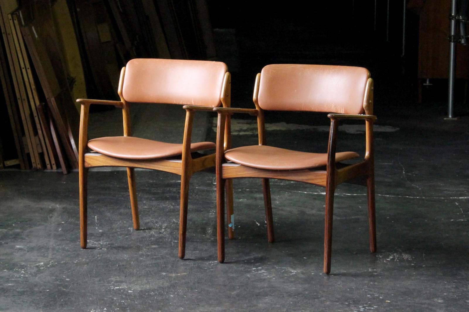 北欧,ヴィンテージ,家具,エリックバック,model50,アームチェア,本革