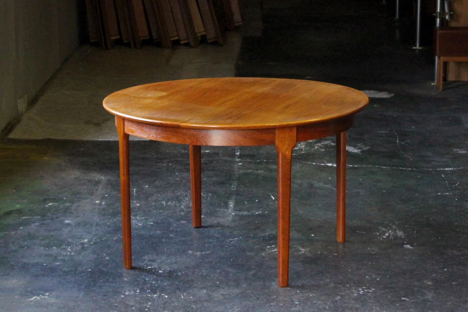 北欧,デンマーク,家具,ダイニングテーブル,円形,エクステンション