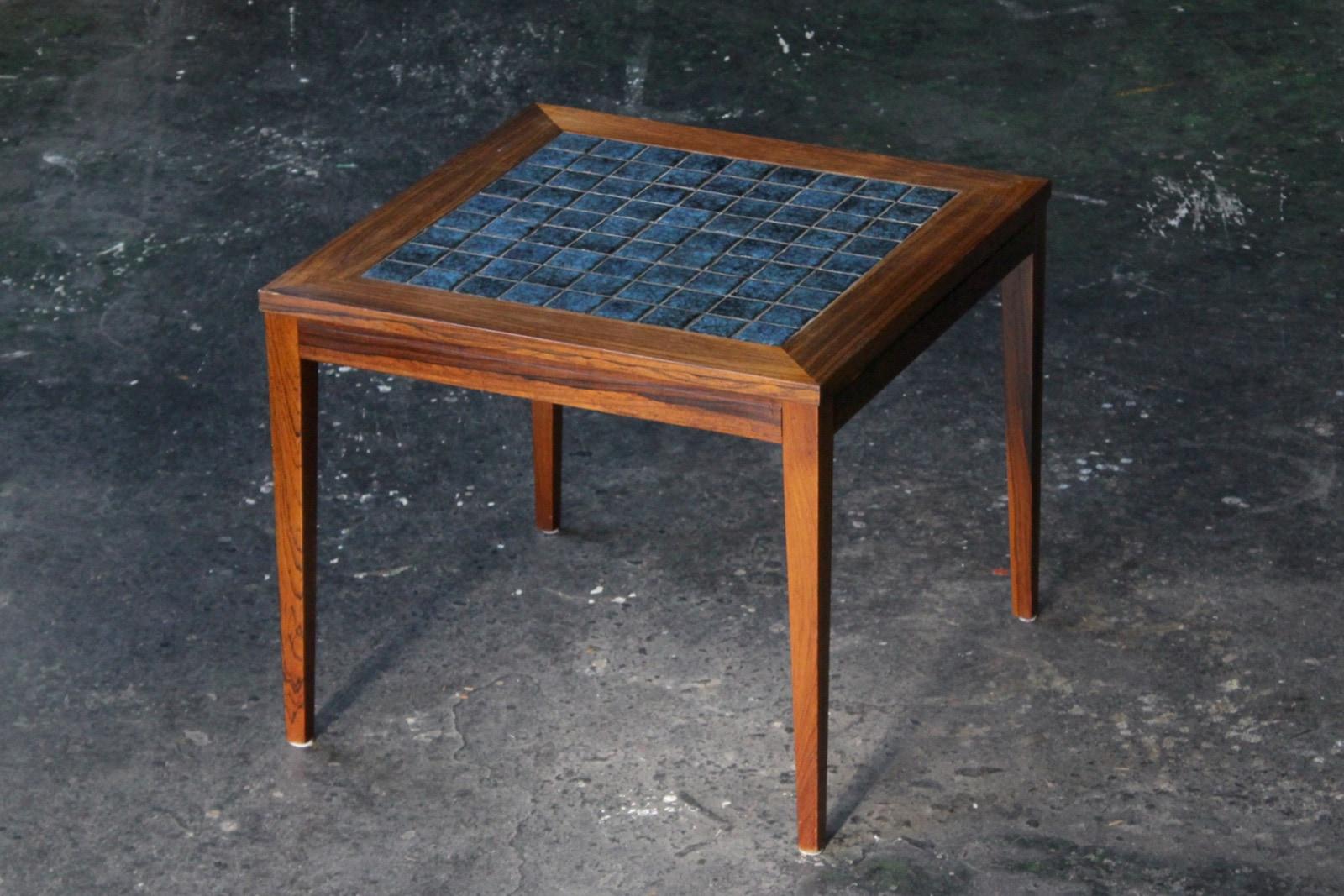 北欧,ヴィンテージ,家具,コーヒーテーブル,タイル,青
