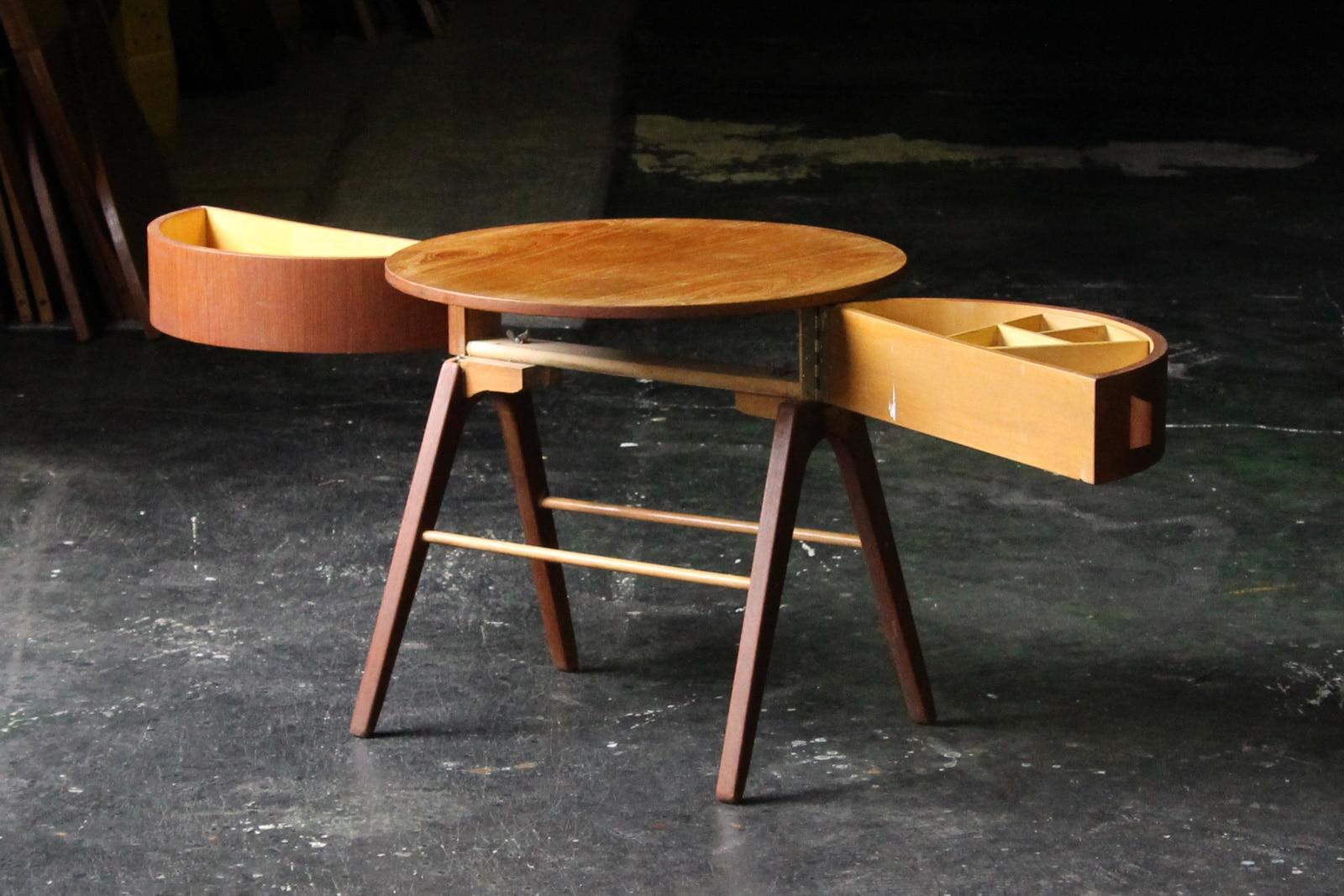 北欧,ヴィンテージ,家具,サイドテーブル,丸型