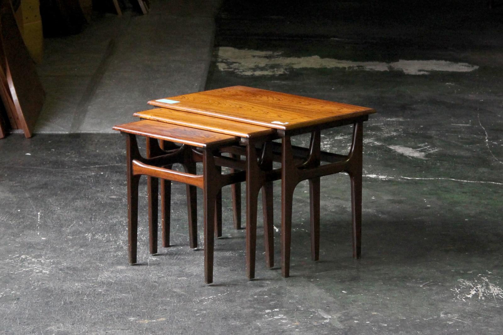 北欧,アンティーク,家具,ネストテーブル,ローズウッド材