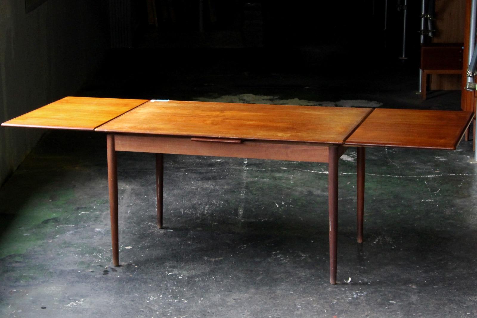 北欧,アンティーク,家具,ダイニングテーブル,エクステンション