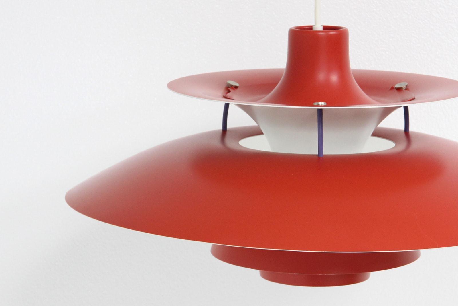 ルイスポールセンPH5,赤,ヴィンテージ,北欧,照明