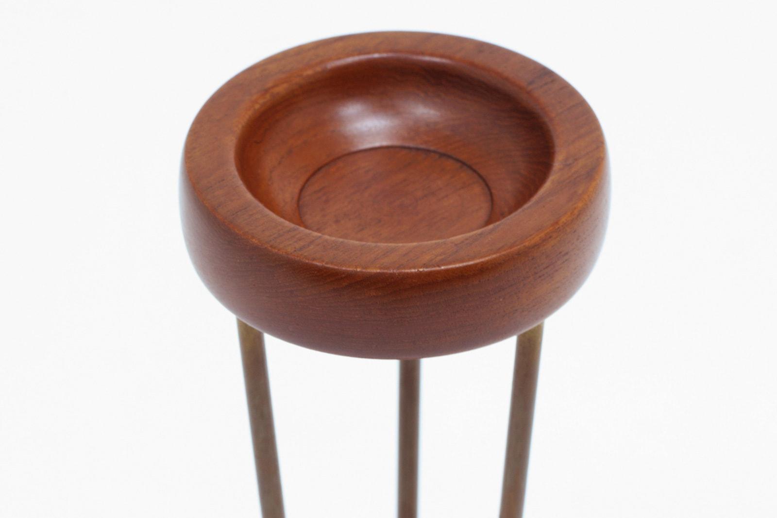 北欧,チーク材,スタンド型,小物入れ,灰皿,デンマーク