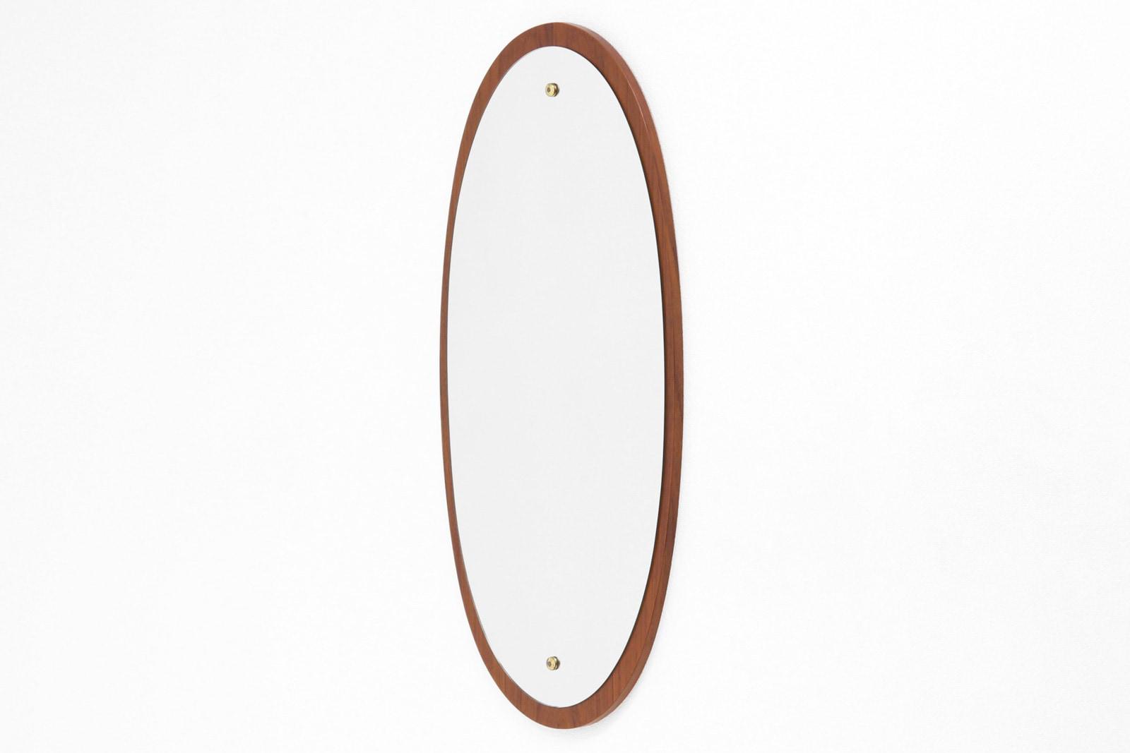 北欧,ミラー,鏡,壁掛け,楕円形,ヴィンテージ