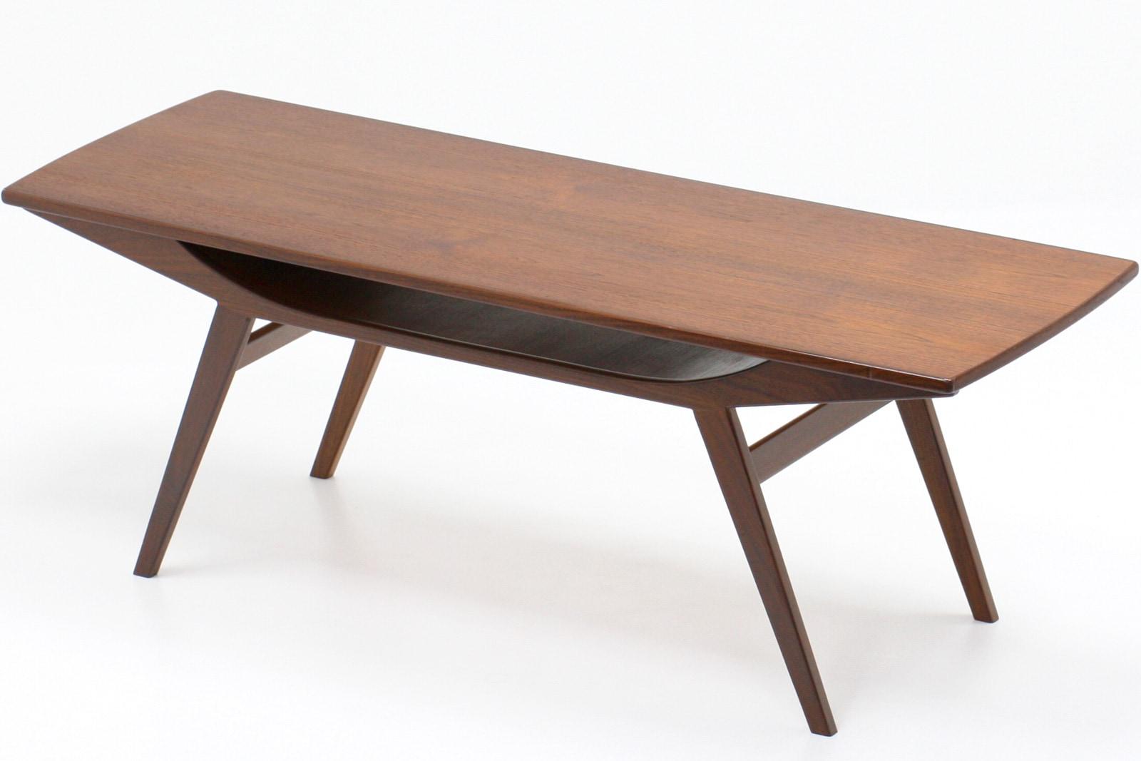 北欧,家具,ヴィンテージ,コーヒーテーブル,棚付き