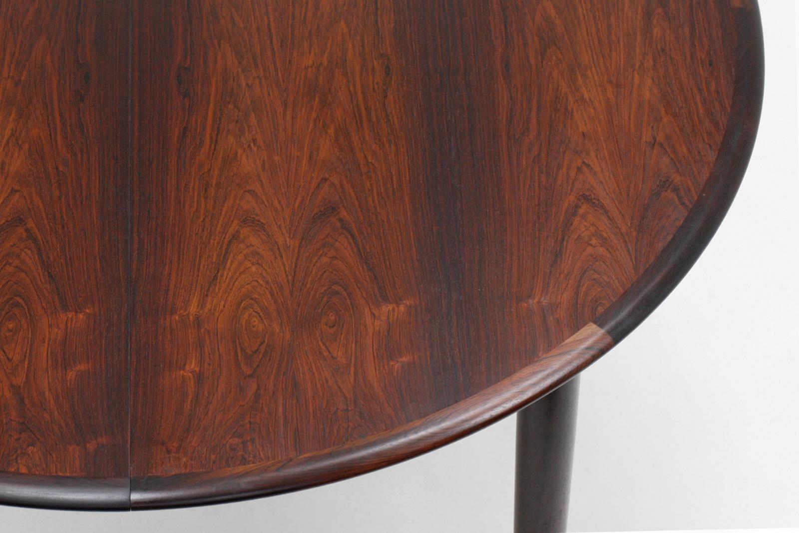 カイクリスチャンセン,ダイニングテーブル,丸型,ローズウッド,北欧,デザイナーズ,家具