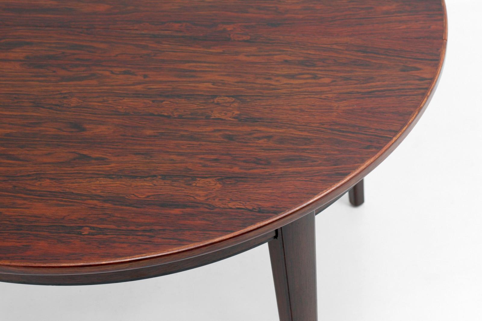 オーマンジュン,ダイニングテーブル,丸型,ローズウッド,model55,ヴィンテージ,北欧,家具