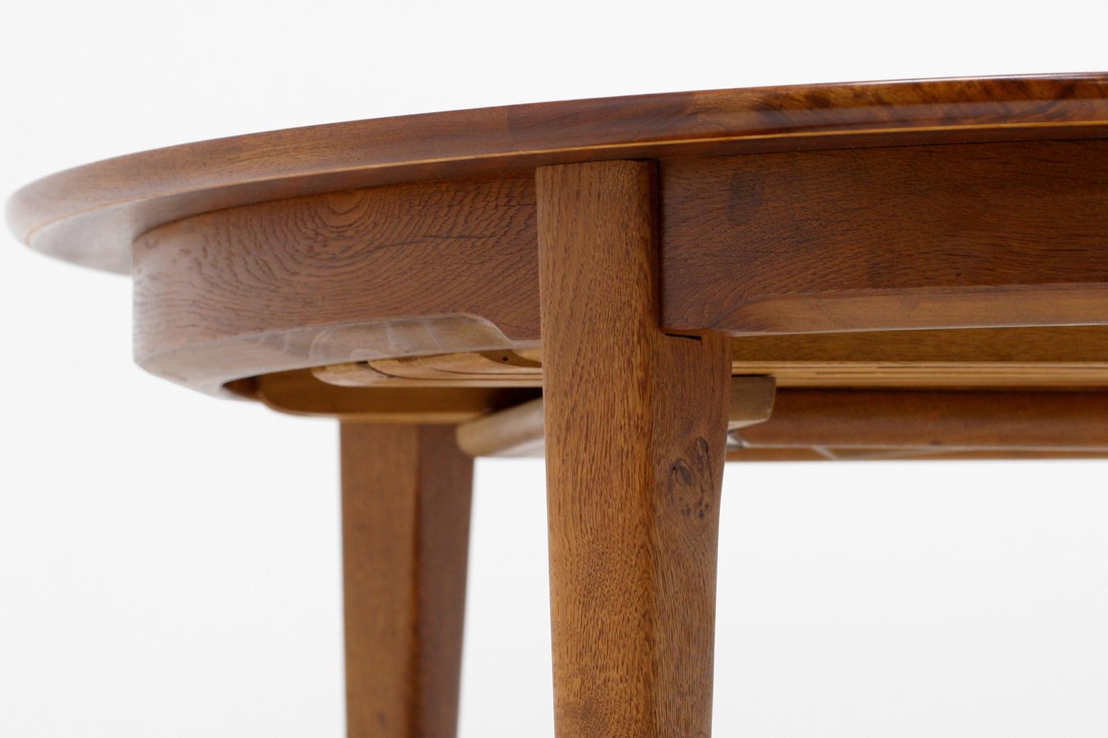HenningKjarnulf,ヘニングケアヌルフ,ダイニングテーブル,丸形,チーク材