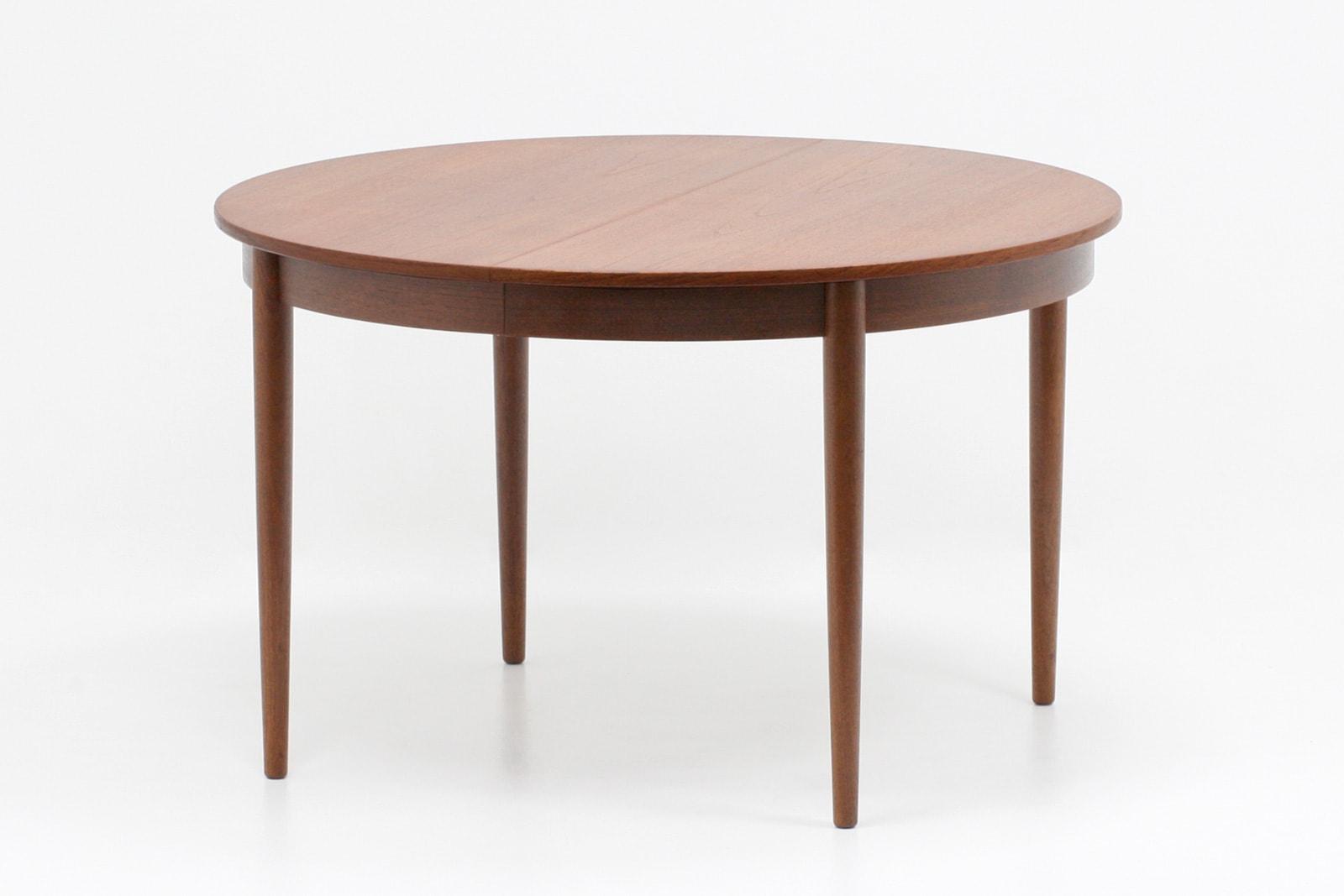 デンマーク,家具,ダイニングテーブル,円形,ヴィンテージ