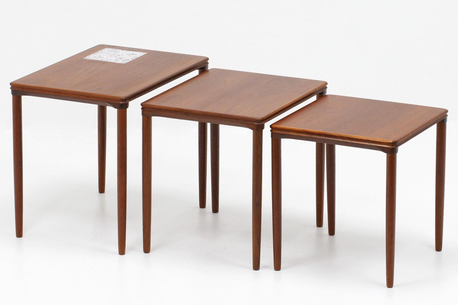 ヴィンテージ,北欧,家具,ネストテーブル,タイルトップ