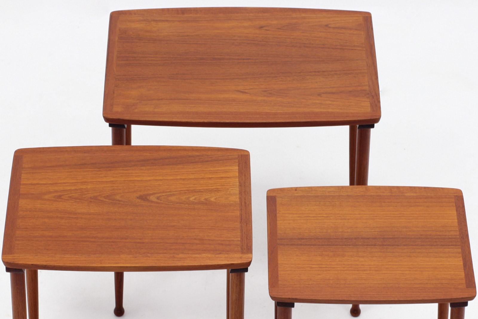ネストテーブル,デンマーク,家具,Mobelintarsia