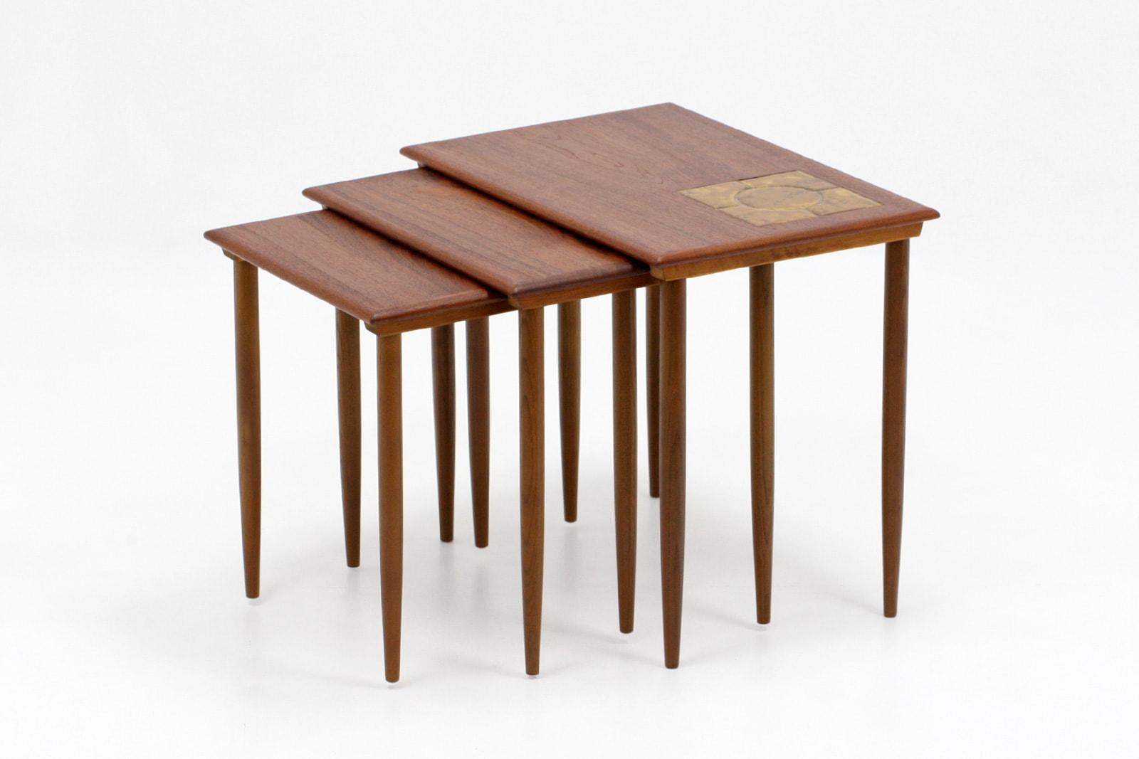 北欧,ヴィンテージ,家具,ネストテーブル,タイルトップ