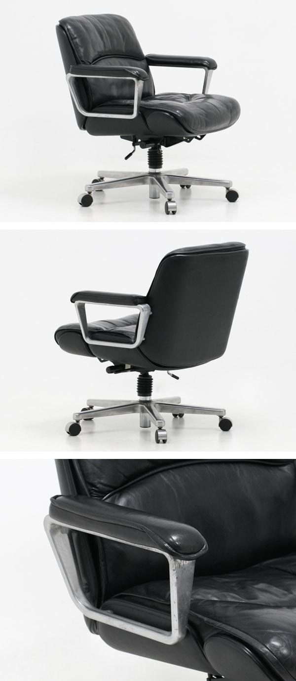 KOKUYO,コクヨ,マネージメントチェア,130シリーズ,中古,本革張り,椅子,ミッドセンチュリー,家具
