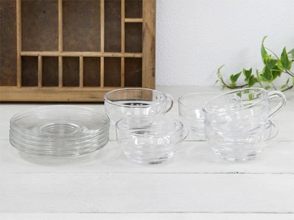 オールドアデリア,ガラス食器,カップ&ソーサー,セット,ADERIA