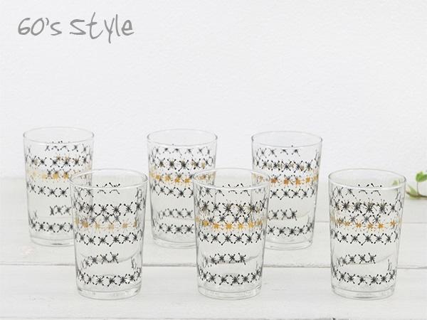 昭和レトロ,ガラス食器,光模様,グラス,セット,雑貨