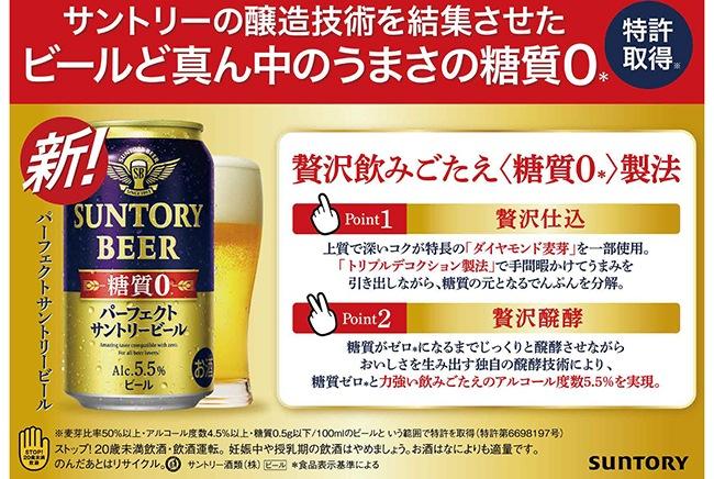 パーフェクトサントリービール 350ml×24缶 贅沢飲みごたえ糖質0製法