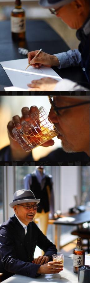 山崎×タケオキクチ クリスタルロックグラスTAKEO KIKUCHI