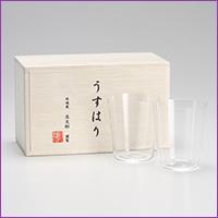 松徳硝子 うすはりロックグラス 2個セット