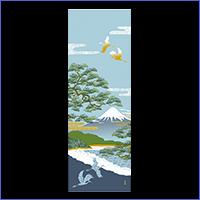 濱文様 絵てぬぐい(三保松原風景)