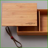 山崎蒸溜所オリジナル 竹製弁当箱(黒)