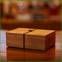 山崎蒸溜所オリジナル 竹製弁当箱(赤)