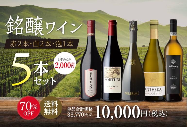 創刊記念特別セット 銘醸ワイン5本セット