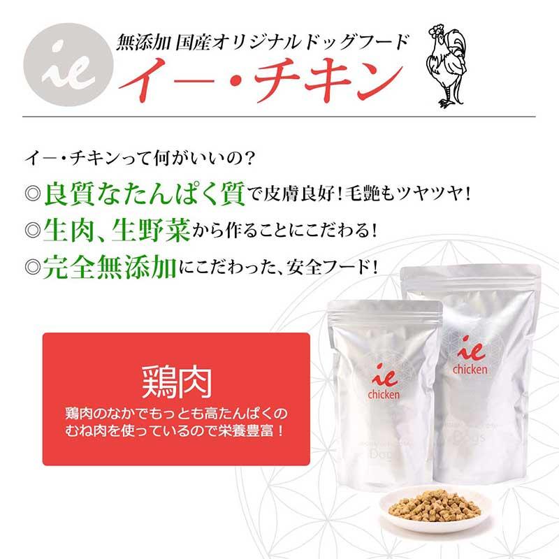 visions オリジナル ドッグフード イー・チキン【鶏肉】[1kg×5袋]  商品説明