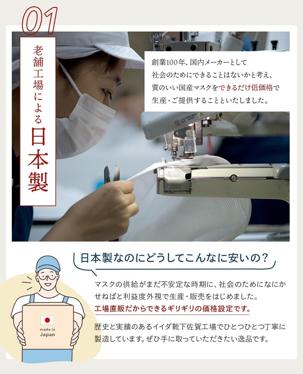 老舗工場による日本製